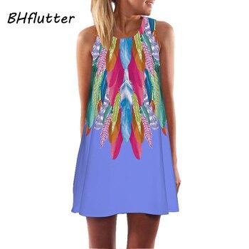 1f77f0a568b Bhflutter Цветочный принт платье Для женщин летнее платье 2018 Новый стиль  Prairie Chic милое платье Для женщин S Повседневное шифоновые платья  vestidos