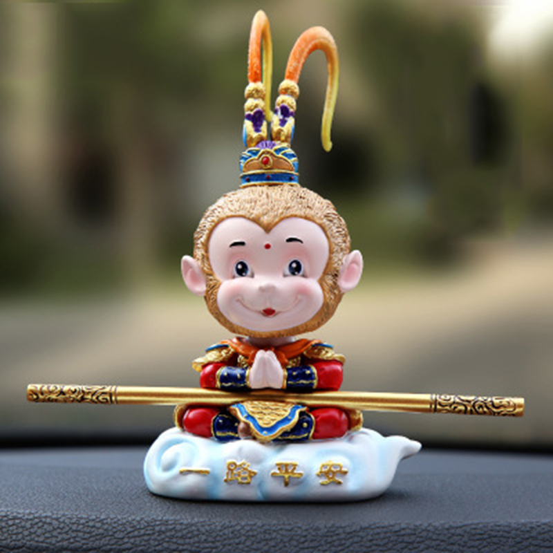 Kayme Shaking Head Monkey Car Dashboard Doll Auto Car Toy Ornaments Interior Furnishing Decoration Gift Ornaments     - title=