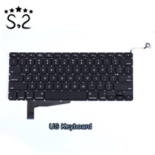 OLOEY New A1286 US UK Keyboard for Macbook Pro 15.4 inch A1286 laptop keyboard 2008 year