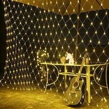 6*4m Lights Mesh Christmas Fairy Decoration Outdoor LED Net Light Garden Decorative Waterproof 220V Wedding Party Holiday