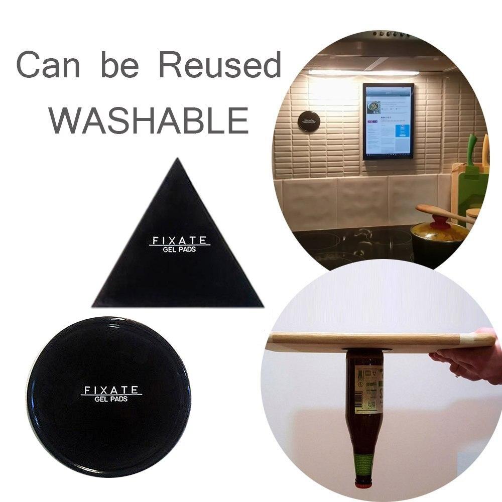 Potente Fissarsi Cuscinetti in Gel Forte Colla Stick Ovunque Wall Sticker Può essere Pulito Ripetutamente, solo 1 Pezzo Circle o 1 Triangolo