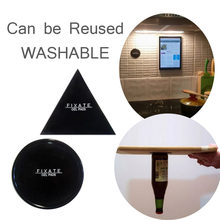 Powerful Fixate Gel Pads Strong Stick Glue Anywhere Wall Sticker Can be Cleaned Repeatedly, Alone 1 Piece Circle or 1 Triangle(China)