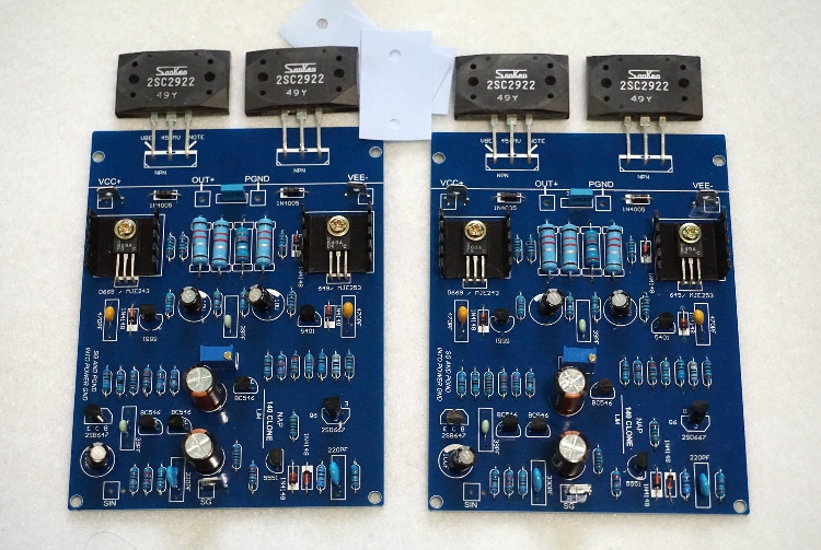 NEW LJM NAIM NAP140 AMP CLONE KIT 2SC2922 Amplifier Kit ( 2 channel ) gzlozone one pair clone naim nap140 amplifier kit diy amp kit 2 channel