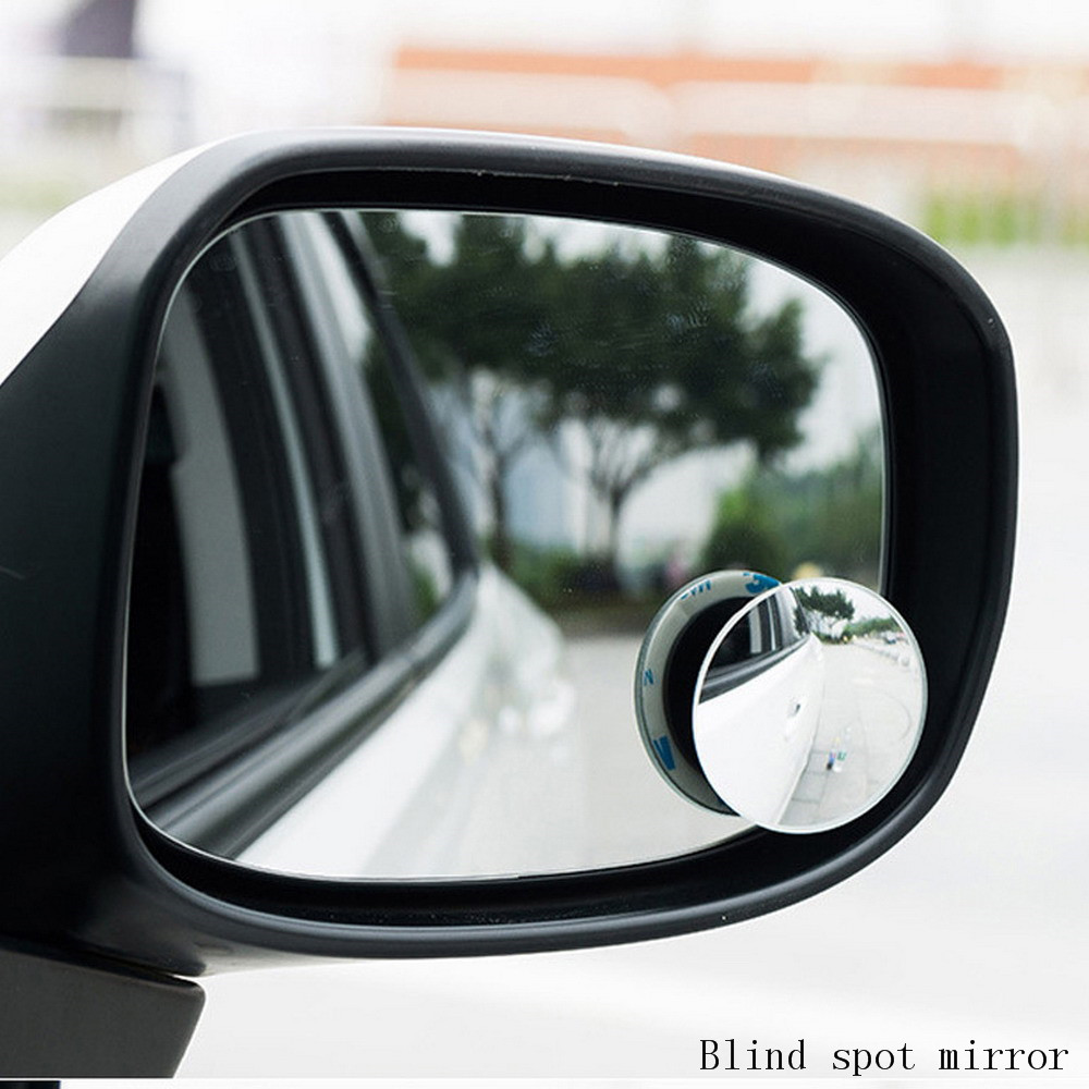 2pcs 36mm Adhesive Base 360 Degree Adjustable Rearview Blind Spot Mirror for Car
