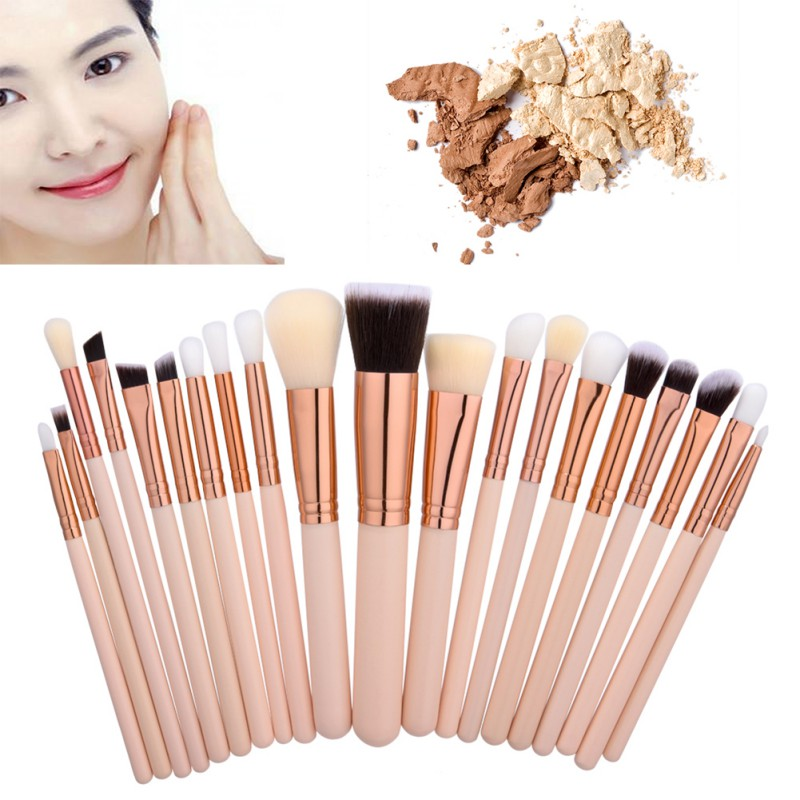 все цены на  20Pcs Women Makeup Brushes Sets Natural Wood Professional Cosmetic Brush Tools Powder Eyeshadow Make Up Brush Kits  онлайн