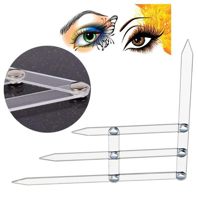 Eyebrow Shaping Stencil Permanent Makeup Acrylic Eyebrow Ruler Eyebrow Grooming Stencil Shaper Measure Tool Makeup Tattoo Ruler 1