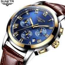 Men Watche Top Brand Luxury SUNKTA Men Fashion Military Chronograph Quartz Watch Man Sports Clock Reloj Hombre Relogio Masculino