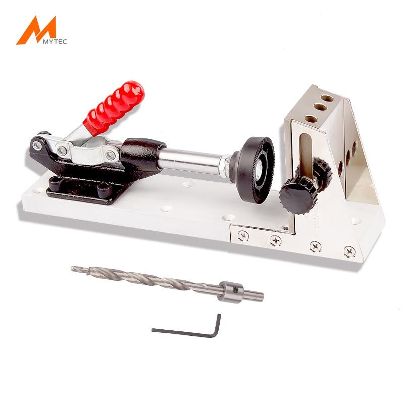 High Quality Steel Pocket Hole Jig Set Mini Style Pocket Slant Hole Jig Kit For Woodworking Drilling Bit System slant pocket knot hem striped pants