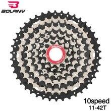 BOLANY 10S 11-42T MTB Mountain Bike Freewheel Cassette Flywheel Wide Ratio Steel Easy Uphill/Downhill