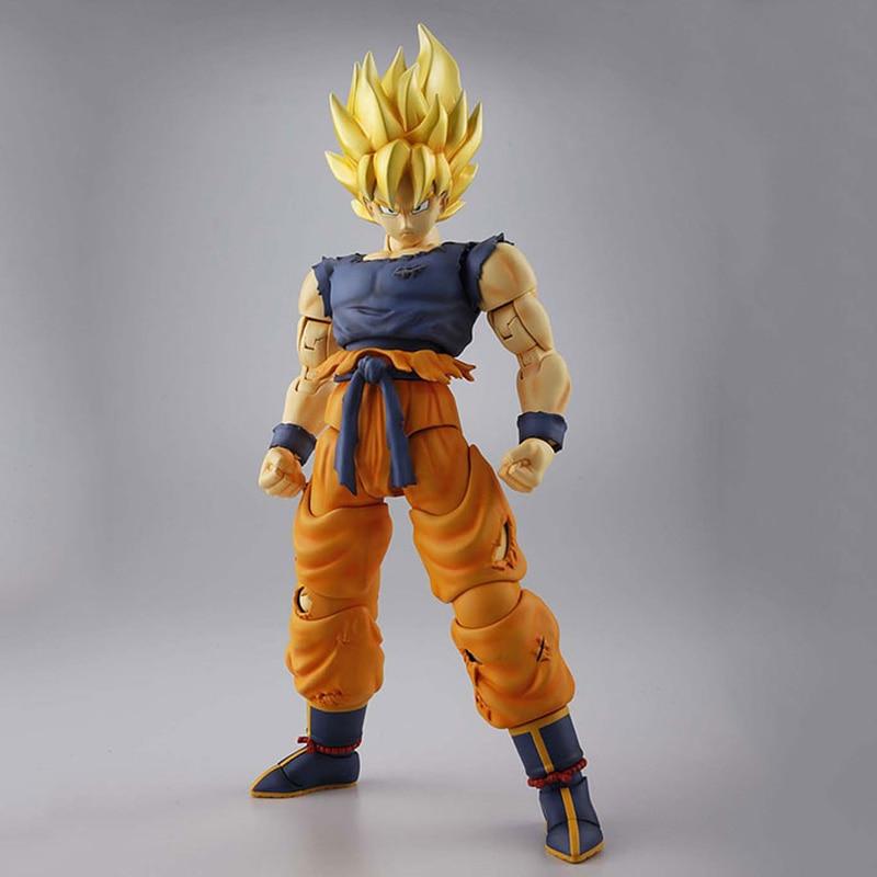 ФОТО Dragon Ball Z MG Figure Rise Super Saiyan Son Goku Model Kit (1/8) Japan Anime Collectible Mascot Toys 100% Original
