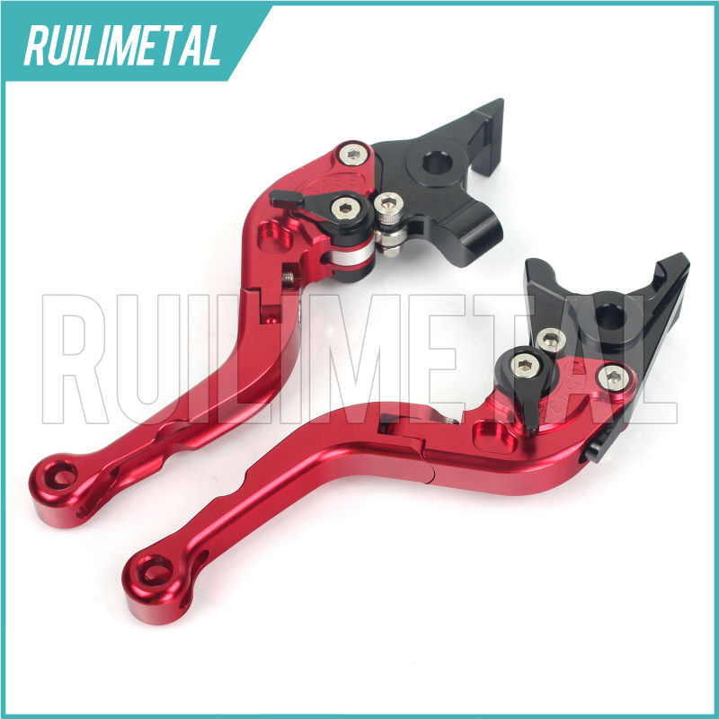 Adjustable Short Folding Clutch Brake Levers for MOTO GUZZI Breva 750 10 11 12 13 14 15 16 2016 Breva-850 06 07 Griso 850 08 09 fxcnc aluminum adjustable moto motorcycle brake clutch levers for moto guzzi norge 1200 gt8v 2006 2015 07 08 09 10 11 12 13 14
