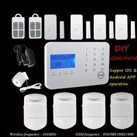 3g SIM безопасности системы сигнализации домашний телефон приложение охранной сигнализации GSM Беспроводной личного жилого дома безопасности