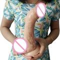 sex shop FAAK 240*50mm big dildo Flesh color TPR dildo realistic huge dildo male artificial penis sex toys for women