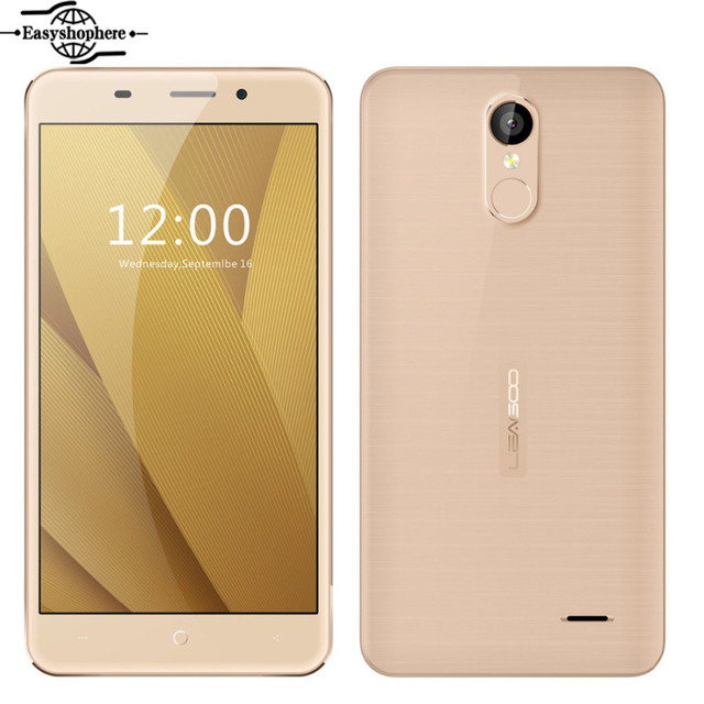 "Leagoo M5 Plus Smartphone 5.5"" HD 2GB RAM 16GB ROM Fingerprint 4G Mobile Phone MTK6737 Quad Core Android 6.0 Metal Frame Phone"