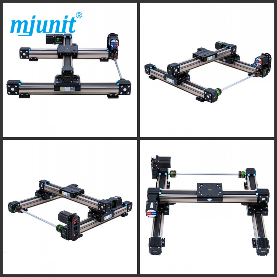 mjunit MJ50 xy axis with 400x400mm stroke length linear rail and blocks linear rail cnc router guide systems flat spindle linear lineal line rail mini 3 axis cnc router linear guide and servo motor