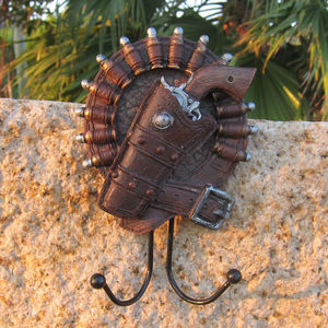 Image 3 - Mediterranean  European cowboy creative personality linked to soft mounted coat hooks Wall Decoration