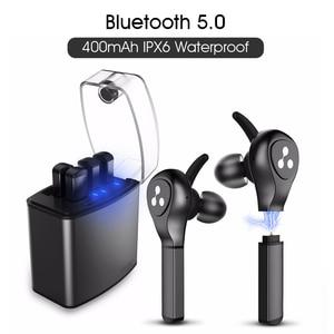 Image 1 - Слог Новый СПЦ наушники D9X Bluetooth наушники легче Батарея случае Сменные Батарея чип Bluetooth гарнитуры Беспроводной вкладыши