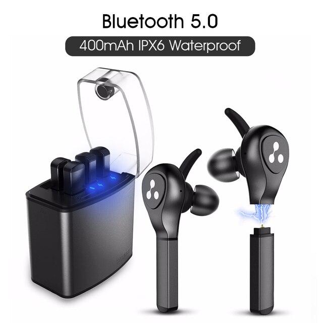 Слог Новый СПЦ наушники D9X Bluetooth наушники легче Батарея случае Сменные Батарея чип Bluetooth гарнитуры Беспроводной вкладыши