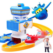 2017 ABS Super wings Control Centre with Planes Action Figures Transformation Toys children Christmas Gifts