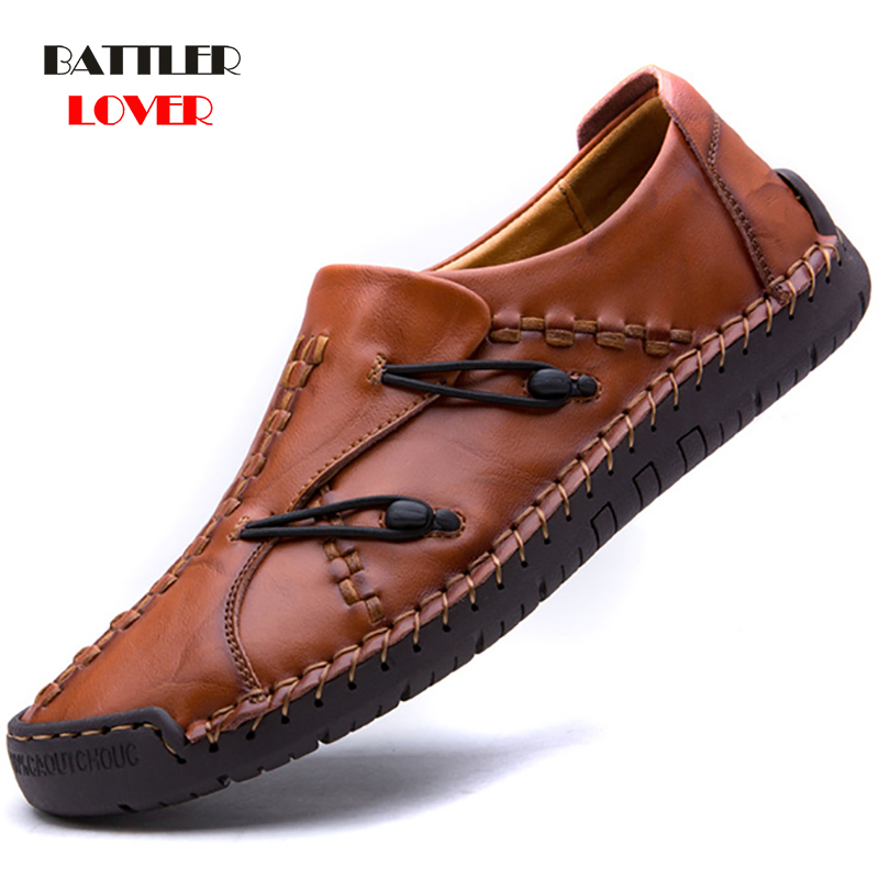 Classic Comfortable Men Casual Shoes Loafers Men Shoes Handmade High Quality Genuine Leather Shoes Men