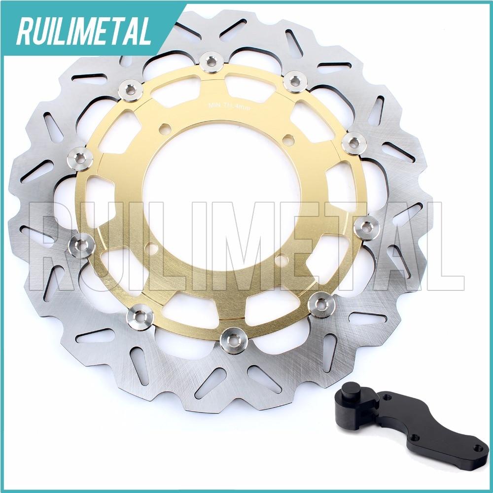 Сверхразмерные 320 мм передние тормозные диски ротора Кронштейн Адаптер для Suzuki РМЗ 250 rmx на 450 RMZ250 RMZ450 RMX450 2010 2011 2012 10 11 12