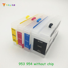 Vilaxh Empty Refillable for HP953 953 XL ink cartridge hp 954 955 952 Without Chip For HP Officejet Pro 8730 8740 8735