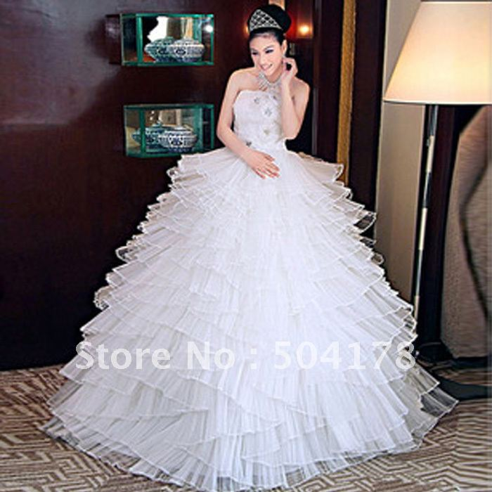Beautiful Ball Gown Wedding Dresses: Beautiful Luxury Sparkling Luxury Full Crystal Wedding