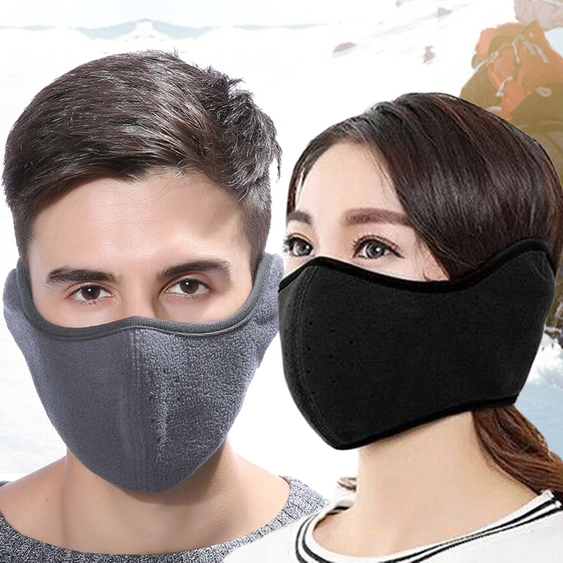 Romad 1pcs Cotton Mouth-muffle Black Health Cycling Anti-dust Mouth Face Unisex Face Masks Warm Winter Fashion Accessory R4 Apparel Accessories