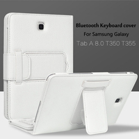 Wireless Bluetooth Keyboard +PU Leather Cover Protective Smart Case For Samsung Galaxy Tab A 8.0 Inch Tablet T350 T355 P350+Gift