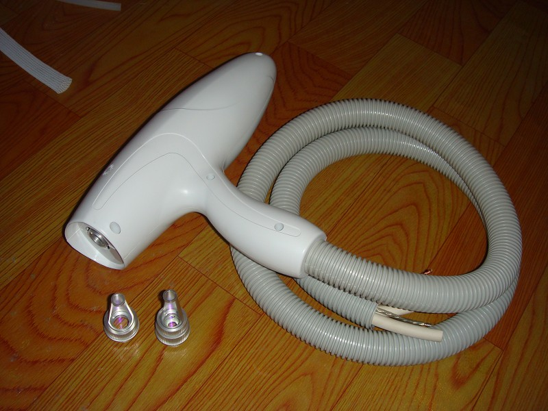 nd yag handpiece with 1064  532 tips with connector