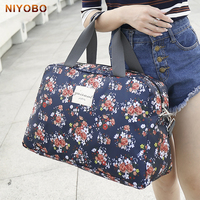 Women Travel Bags Handbags 2017 New Fashion Portable Luggage Bag Floral Print Duffel Bags Waterproof Weekend