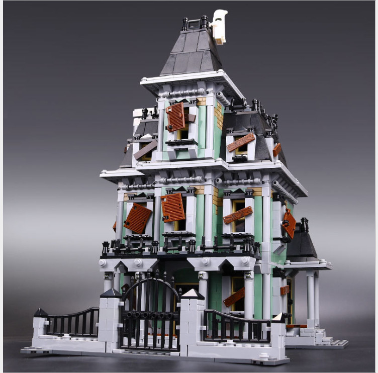 IN STOCK lepin 16007 2141Pcs Monster fighter The haunted house Model set Building Kits Model Compatible With 10228 toy for kids 2141pcs the haunted house model set building kits block toy 16007 diy monster fighter educational blocks toys for children