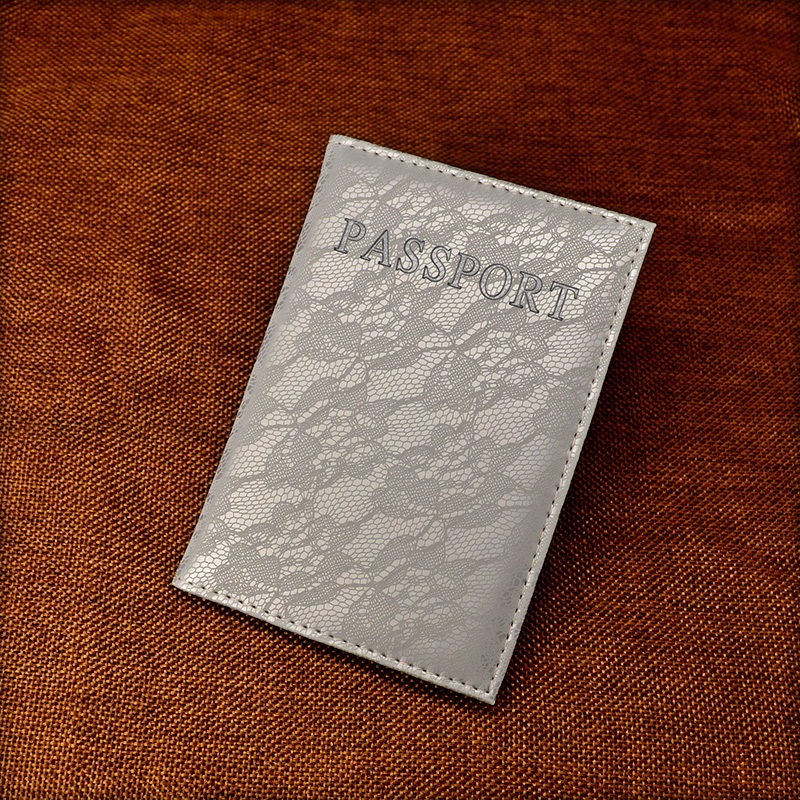 Luxury Elegant Passport Cover Ռուսաստան Travel Lace Passport Case Paspoort Cover Pasaporte Soft Pu Կաշվե ծածկ `անձնագրի համար