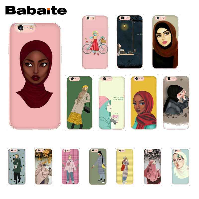 Babaite แฟชั่น Hijab Girl สำหรับ iPhone 11 Pro 11Pro MAX X XS MAX 6 6 S 7 7 PLUS 8 8 PLUS 5 5S SE XR