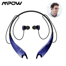 Mpow Jaws Neckband Earphone Bluetooth 4.1 Wireless Headphones With Carry Case Royal Blue 13Hours Playing Time For Sports iPhone