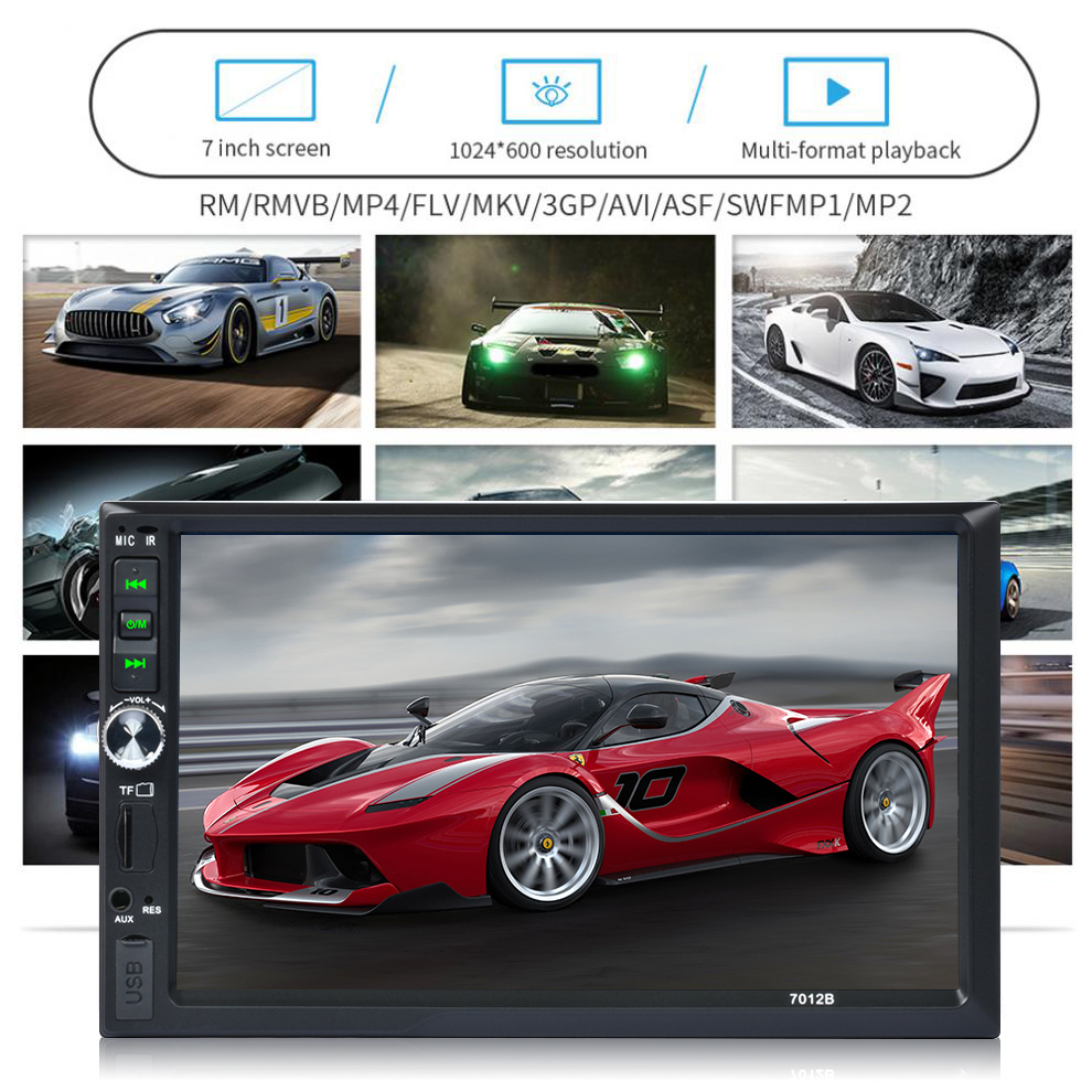7 HD Video Music Player with Reverse Camera Car Bluetooth Touch Screen Mirror Link Radio FM Stereo Music support Smart Phone7 HD Video Music Player with Reverse Camera Car Bluetooth Touch Screen Mirror Link Radio FM Stereo Music support Smart Phone