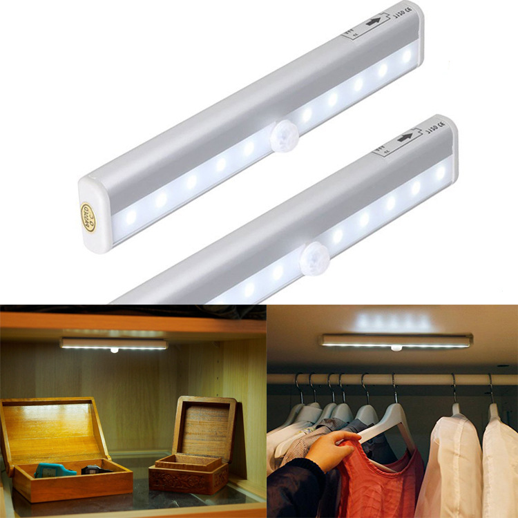 USB lithium battery Human body induction lamp The cabinet ...