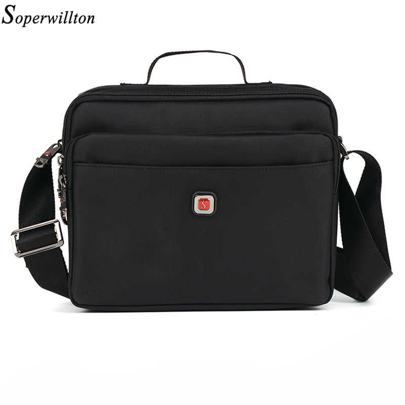 5062ff77fa15 Soperwillton Brand 2019 Men s Bag Messenger Bags Waterproof High Quality  Zipper Oxford Bag Shoulder Bag Male