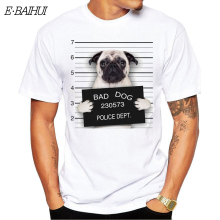 E-BAIHUI  new hip hop t shirts print tops tees Goofy t-shirt men funny bad dog cartoon tshirt homme comfort shirt T-67