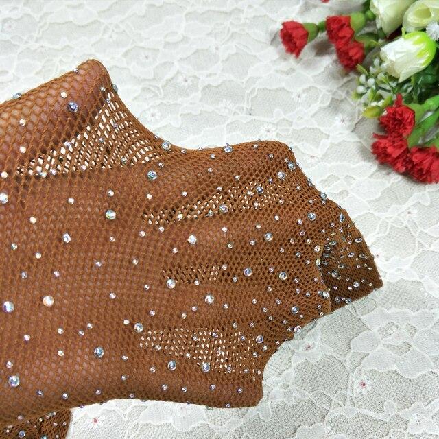 Diamond Fishnet Mesh Thigh-High Stockings  4