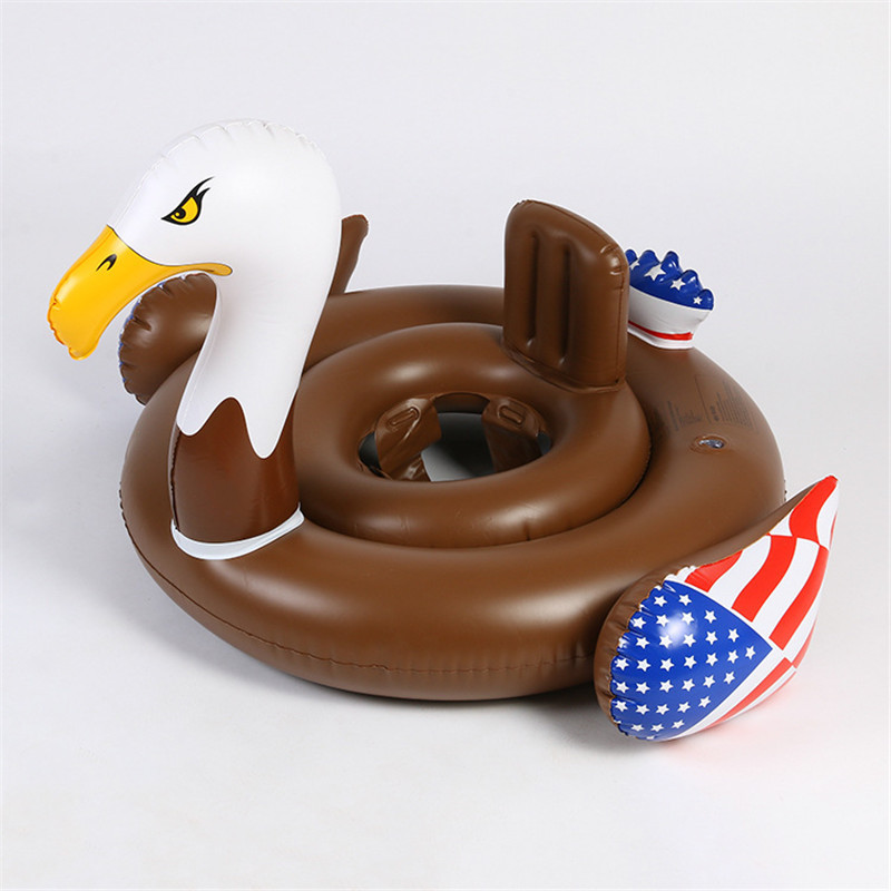 Summer Baby Inflatable Flamingo Pool Float Swim Ring White Swan ...