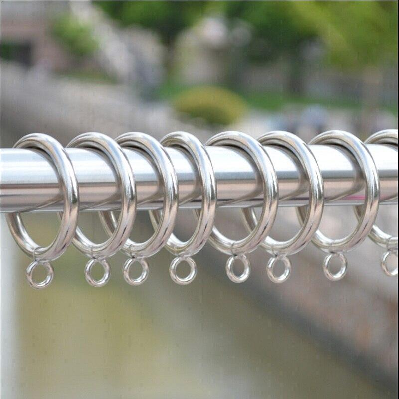 20 stukspartij zilveren metalen gordijn ring op staaf voor haken gordijn clips zwart opknoping ring gordijn decoratieve accessoires cp055 2