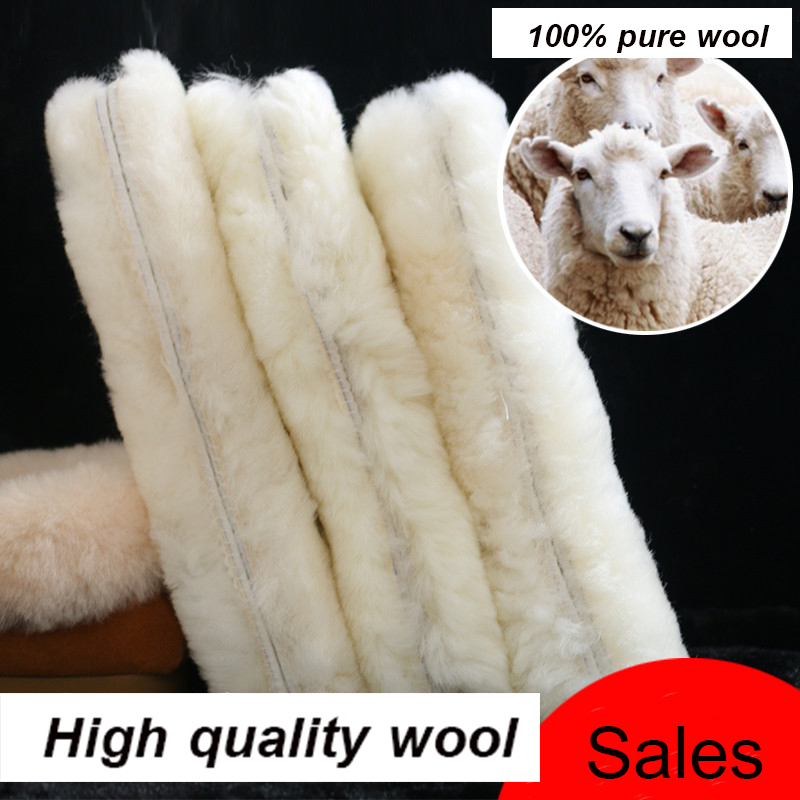 1 Pair Wool Insoles Thick Sheep Cashmere Unisex Winter Insole High Quality Warm Breathable Plush Shoe Pad Insoles For Men Women comfortable unisex fur insoles thickened soft men women shoe insole short plush warm shoe insole 1 pair winter shoes insoles