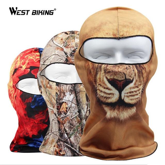 WEST BIKING Multicolor Cycling Face Masks Breathable Windproof Skull Mask Sunscreen Dustproof Bike Mask Bike Bicycle Face Masks