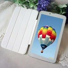 "2016 El Más Barato 7 Pulgadas Teléfono Android Tablet Mini PC MTK 8 GB ROM 3G Llamada de Teléfono de Doble Tarjeta SIM 7 ""cuero Phablet WIFI Play Store"