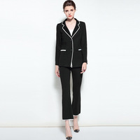 Womens Blazers And Jackets Pants Two Piece Sets Runway Office Lady Autumn Women Tracksuit Ladies Wear