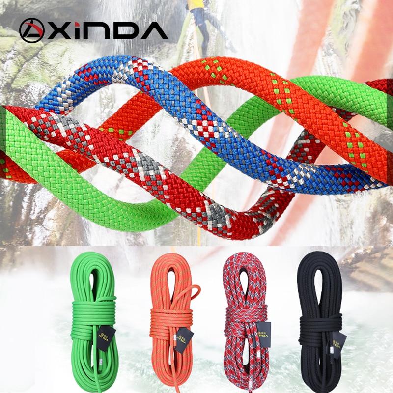 XINDA Camping Rock Climbing Rope 9mm Static Rope Diameter 21KN High Strength Lanyard Safety Climbing Equipment Survival
