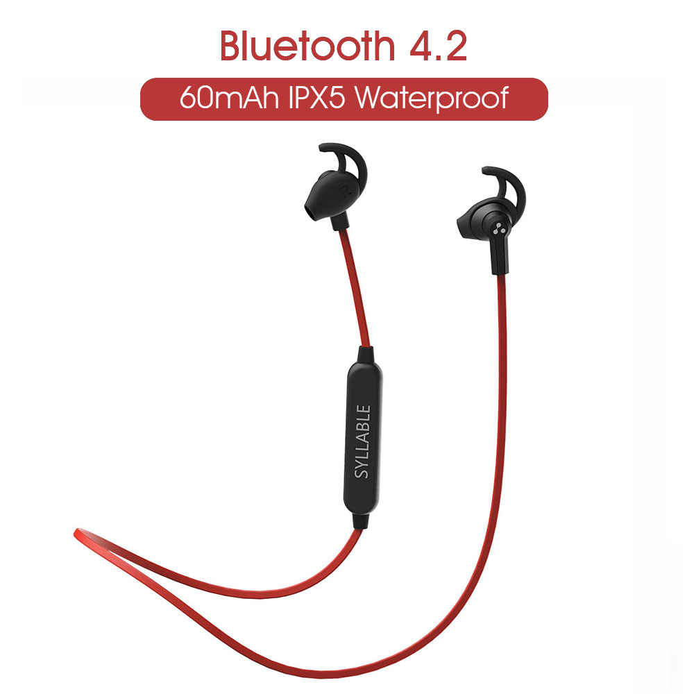 2019 sylaba SF801 Bluetooth 4.2 bezprzewodowy zestaw słuchawkowy Bluetooth sportowe słuchawki douszne z mikrofonem Stereo zestaw słuchawkowy do telefonu komórkowego słuchawki Bluetooth