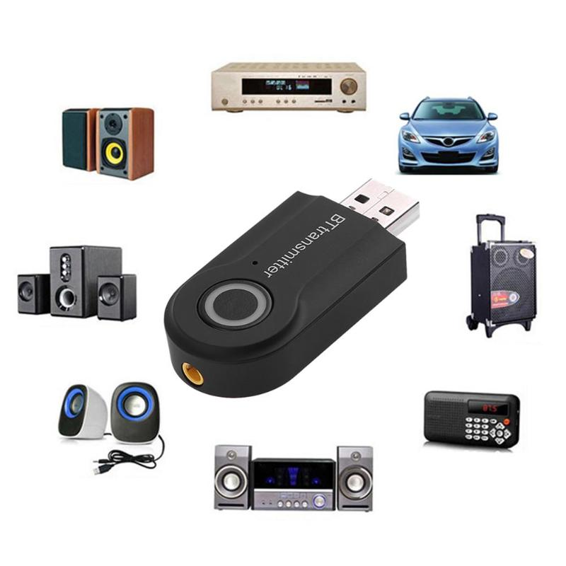 VODOOL USB 5V Bluetooth Transmitter Wireless Stereo Audio BT Transmitter Adapter RCA 3.5mm for TV Headphone Laptop Tablet PC route wireless bluetooth 3 0 edr type c hifi adapter audio usb transmitter transceiver headset for nintend switch for pc laptop