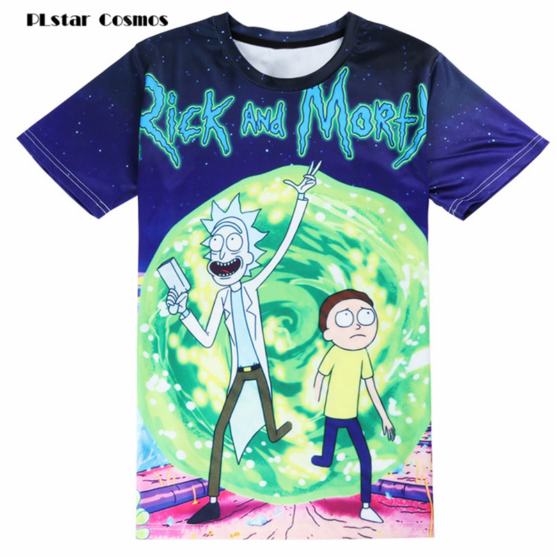 PLstar Cosmos New Fashion Rick And Morty T-shirt Women/men Harajuku Tee Shirt Printed 3d Cartoon TShirt Camisetas Funny Clothing